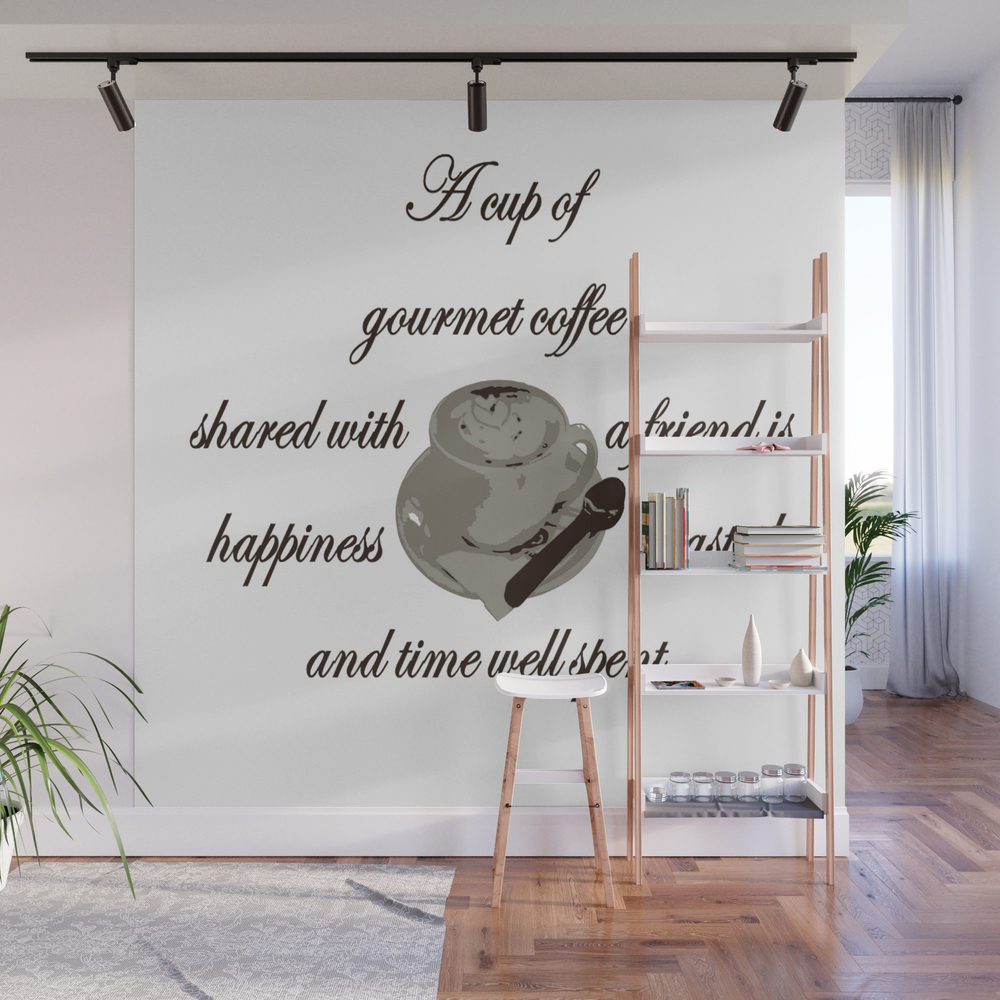 A Cup Of Gourmet Coffee Shared With A Friend Wall Mural by Taiche WMP7824447