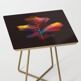 Rainbow Leaf Side Table