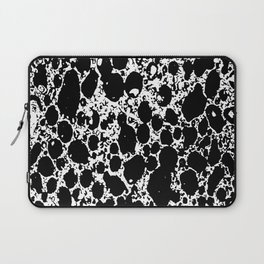 Black and White Abstract Print Laptop Sleeve