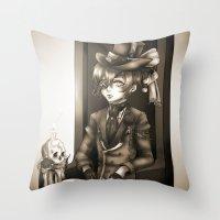 kuroshitsuji Throw Pillows featuring Ciel Phantomhive - The Queen's Watchdog by Lalasosu2