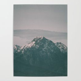 Landscape Italian Snow Mountain Photography Poster
