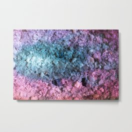 Colorful Geode Sparkling With Rainbow Crystals Metal Print