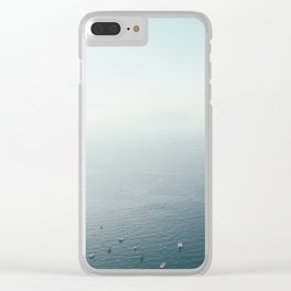 Santorini - Caldera IV Clear iPhone Case
