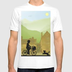 Childhood Dreams, Special Delivery MEDIUM Mens Fitted Tee White