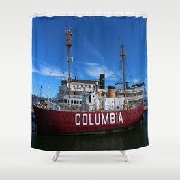 Fireship Columbia Shower Curtain
