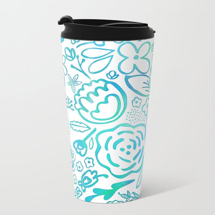 A Profusion of Flowers II Metal Travel Mug