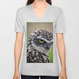 Burrowing Owl Unisex V-Neck
