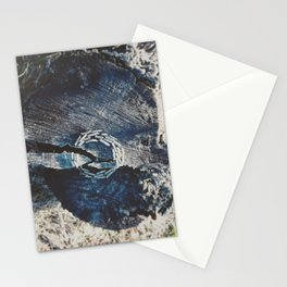 Pine branch circle Stationery Cards