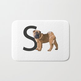 S is for Shar Pei Bath Mat