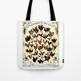 The Poultry of the World Tote Bag
