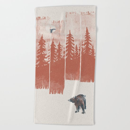 A Bear in the Wild... Beach Towel