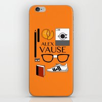 alex vause iPhone & iPod Skins featuring Alex Vause Poster by Zharaoh