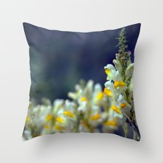 Toadflax flowers 5067 Throw Pillow