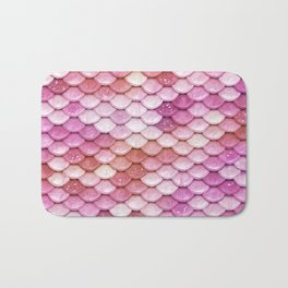 Multicolor pink mermaid glitter scales - Mermaidscales Bath Mat