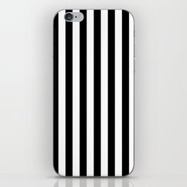Stripes Black and White Vertical iPhone Skin