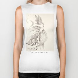 Fin and Feather Gown Biker Tank