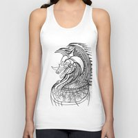 dragon Tank Tops featuring Dragon. by sonigque