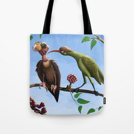 Whimsical  birds Tote Bag