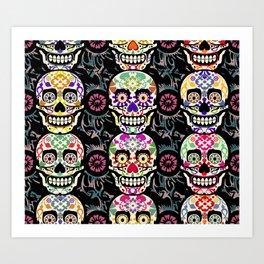 Happy calaveras Art Print
