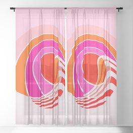 Sun surf - dusk Sheer Curtain