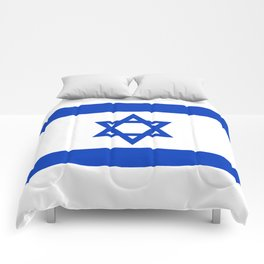 Israel Flag - High Quality image Comforters