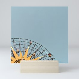 Ferris Wheel and Dusty Blue Sky Mini Art Print