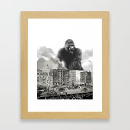 King Kong and the 1904 Fire Department Framed Art Print