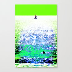 Sailboat and Swimmer (2b) Canvas Print
