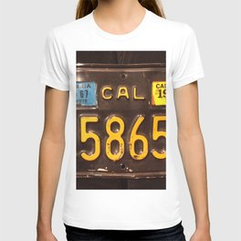 Motorcycle license plate T-shirt