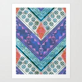 Jirra Boho Chevron {1A} Art Print