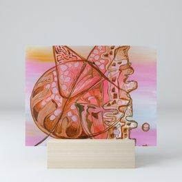 Something Jurassic In Pink & Brown Mini Art Print