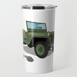 WWII Willys US Army Truck Travel Mug