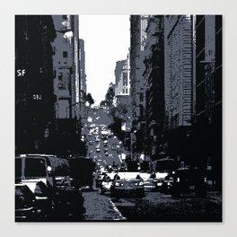 San Francisco Street PIXELATED Canvas Print