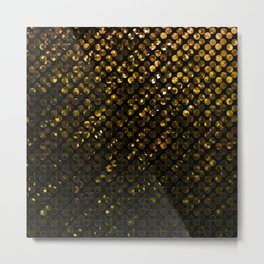 Crystal Bling Strass Gold G321 Metal Print