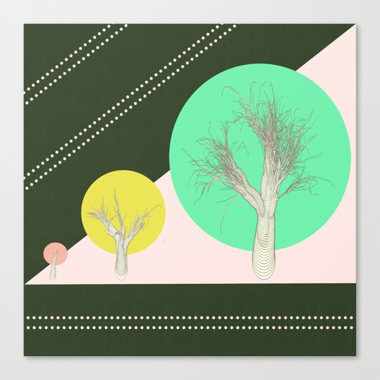 In my world forests are geometric Canvas Print