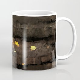 Abstract landscape nature texture lava fire geology digital illustration Coffee Mug