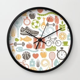 Health habits attitudes Hispanic studied sport Wall Clock