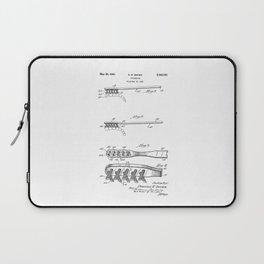 patent art Brown Toothbrush 1939 Laptop Sleeve