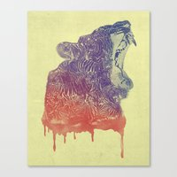 camo Canvas Prints featuring camo  by samalope