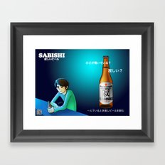 Sabishi Beer Framed Art Print