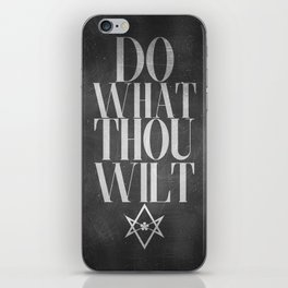 Do What Thou Wilt (Dark) iPhone Skin