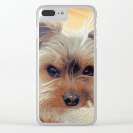 Yorkie | Dogs | Terrier | Pets | Humor | What!?! (with text) Clear iPhone Case