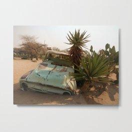 Broken Down Truck in Desert Metal Print
