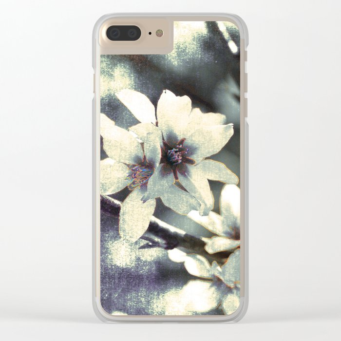 Almond bloom Clear iPhone Case