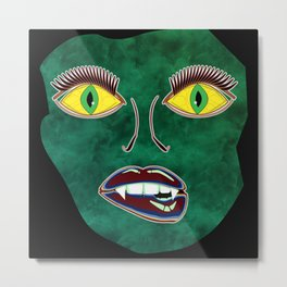 Scary Face (Mask) Metal Print