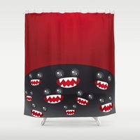 monsters Shower Curtains featuring Monsters  by EkaterinaP