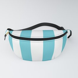 Simply Vertical Stripes in Seaside Blue Fanny Pack