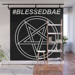 #BLESSEDBAE INVERTED Wall Mural