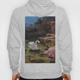 Swan At The Lake - Hans Zatzka Hoody