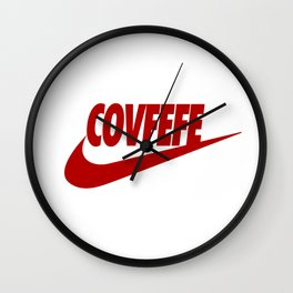 Covfefe [RED] Wall Clock